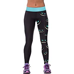 Women' s Smile Cat Printed Fitness Yoga Leggings