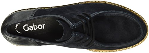 Gabor Shoes Fashion, Zapatos de Cordones Oxford para Mujer Azul (pazifik/ocean 16)