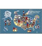 img - for The Little Man in the Map - Wall Map: With Clues to Remember All 50 States (