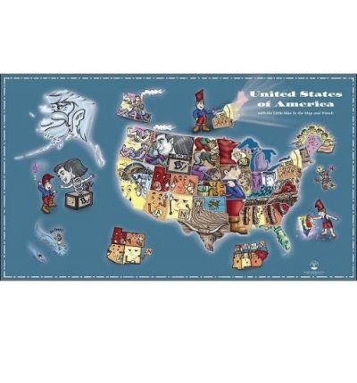 """Read Online The Little Man in the Map - Wall Map: With Clues to Remember All 50 States (""""Sheet map, flat"""") - Common PDF"""