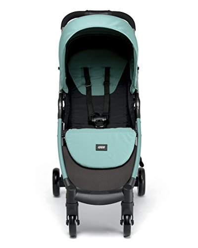 Mamas & Papas Armadillo City² Slim Folding Pushchair, Compact and Lightweight Travel System, Spacious from Birth - Duck Egg