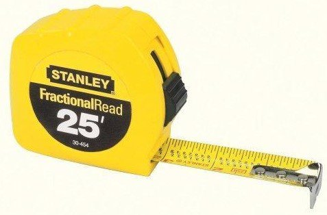 - Stanley Hand Tools 30-454 25' Fractional Read Tape Rule