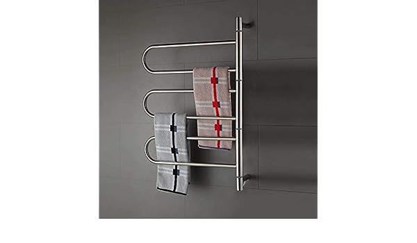 HL Calentador de Toallas Calentador de baño Accesorios Toalla Rack Acero Inoxidable Electrictoallero Toalla secador 220V/110V 800 * 550 * 112MM: Amazon.es: ...