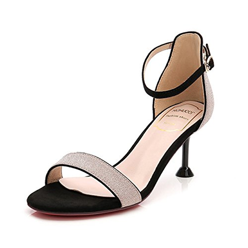 Shoe Stilettos Cy De Party Kitten Lentejuelas El Shoes Trabajo Mujeres heeled Court Ladies Verano Date Elegantes Stitching Las Sandalias Heels Para Pink Nightclubs Bombas High 5Xw5r6