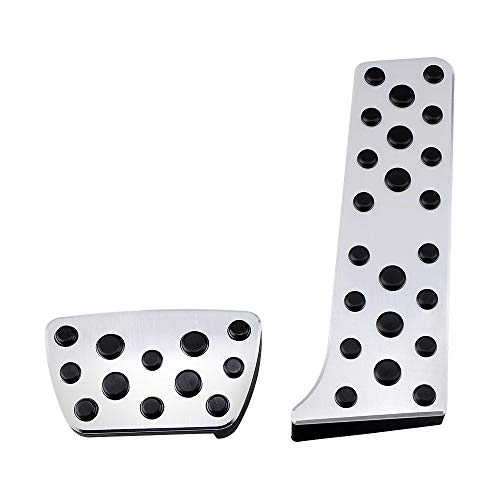 (Astra Depot Stainless Steel Gas Brake Pedals Pads Compatible with 2018 Toyota Camry XV70)