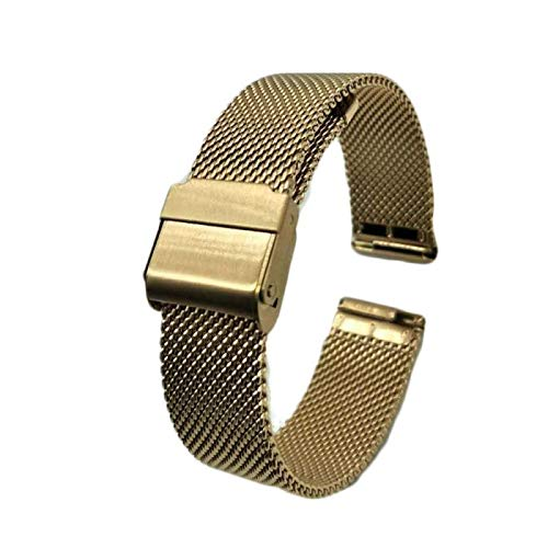 Anais Watch Bands Fashion High-end Mesh Band Fullmosa Magnetic Closure Stainless Steel Metal Milanese Strap Deluxe Replacement DW Band for Men and Women (Rose Gold)
