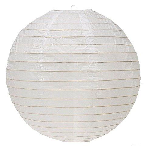 Adorox 12-Inch Round Paper Lantern Lamp Shades Home Decoration (White (12 Lanterns))
