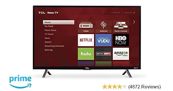 Amazon.com  TCL 32S305 32-Inch 720p Roku Smart LED TV (2017 Model ... 19ca0fc51