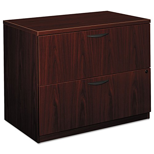 Basyx BL2171NN BL Laminate Two Drawer Lateral File, 35 1/2w x 22d x 29h, Mahogany by Basyx