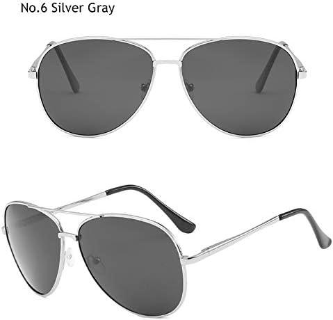 ZJIEJ Lunettes de Soleil Polarized Vintage Aviation Sunglasses Men Designer Sun Glasses Women Eyeglasses Spring
