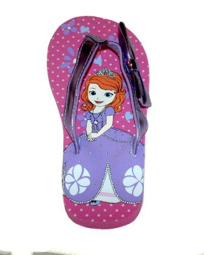 "Disney Store - Girls - Sofia ""First Steps"" Flip Flops - Purp"