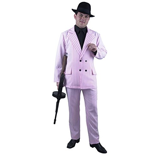 [Men's Pink Gangster Suit Costume Size: Small] (Male Mobster Costumes)