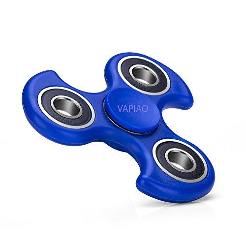 Fidget Tri (dreifach) Fire Wheel Spinner Anti Stress Kreisel Hand Spielzeug in Blau von VAPIAO