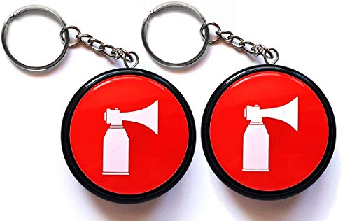 MOPAL 2 Pack, Hype Airhorn Keychain, Batteries Included