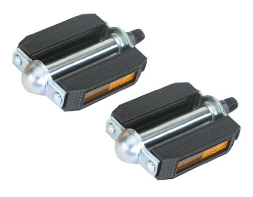 "507 Pvc Pedals 1/2"" Black/Chrome. Bike pedals, bicycle pedal, for lowrider , beach cruiser, chopper, limo, stretch bike"