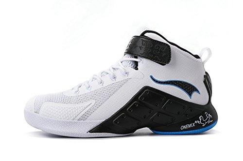 Onemix Heren Basketbal Schoenen Wit / Zwart