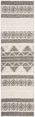 Safavieh NAT104A-212 Rug, 2 3 x 12 , Ivory Grey