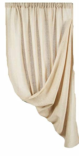 Home Collection by Raghu 1-Piece Heirloom Panel, 40 by 86-Inch, Cream