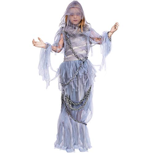 Halloween White Ghost Costume (Spooktacular Creations Haunting Beauty Ghost Girl Costume (Large 10-12))