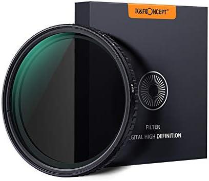 Rakuby キヤノンソニーニコンカメラ用 カメラレンズ用 K&Fコンセプト58mm 超薄型 可変 ニュートラルデンシティ NDフィルター フェーダー ND8- ND128