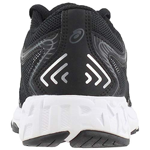 ASICS Unisex-Kids Noosa GS Running Shoe, Black/Carbon/Mid Grey, 1 Medium US Big Kid by ASICS (Image #2)