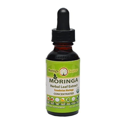 Moringa Liquid Extract - Organic - Alcohol Free - Antioxidant Energy Booster - Made in USA
