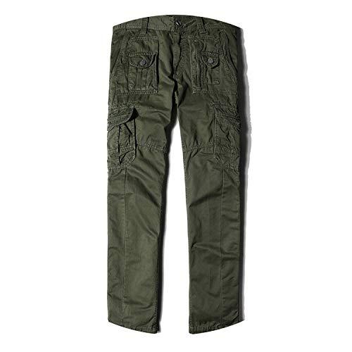 (Pants Solid SummerHOT Sale Spliced Pantalon Homme,Army Green,40)
