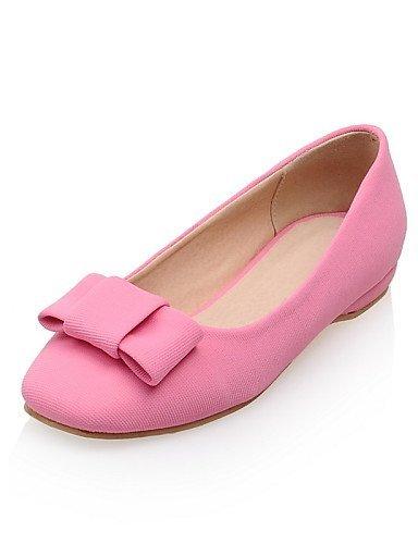 gray Punta Casual Rosa pelle Finta Donna Grigio Ballerine squadrata Piatto Scarpe ShangYi tIOqwPf