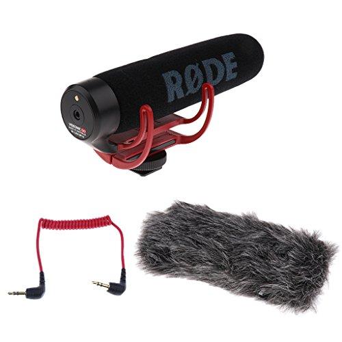 Baosity Professional Stabilizing Camera Grip Handle + Rode VideoMic Camera Mounted Microphone Mic for Canon Nikon Panasonic DSLR Camera (Mounted Shotgun Videomic Microphone Camera)