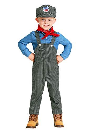 Toddler Train Engineer Costume 4T Gray