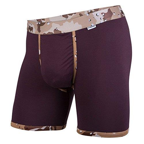 MyPakage Men's Weekday Boxer Brief Underwear-Medium Plum/Desert Camo (Plum Medium)
