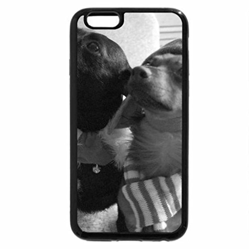 iPhone 6S Plus Case, iPhone 6 Plus Case (Black & White) - A Dog Is For Life, Not Just For Christmas