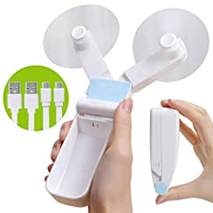In the summer, is the hot and dry weather causing a lot of trouble for you? Do you need a mini foldable fan in your office and at home? Switchable strong winds and breeze, continue to provide cool wind, ok? Also available in pockets or bags f...