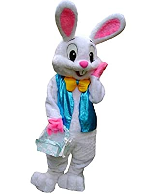 ZYZB Deluxe Plush Easter Bunny Mascot Costume Bunny Costume
