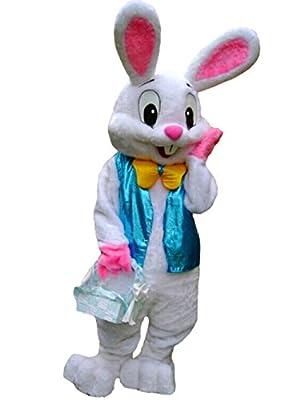 ZYZB Deluxe Plush Easter Bunny Mascot Costume Bunny Costume