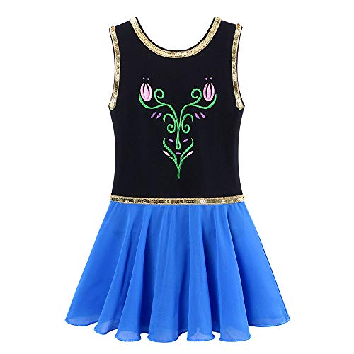 BAOHULU Toddlers Dancing Cosplay Tutu Ballet Leotard for Girls 3-12 Years B098_Black_4A