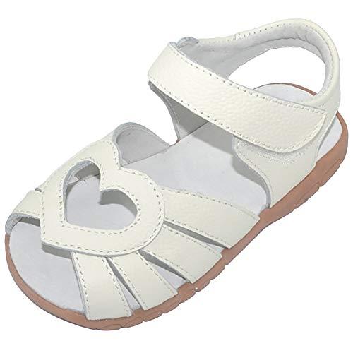 Femizee Kid Girls Leather Sandals Heart Décor Toddler Little Girls Princess Dress Sandal Shoes,Whtie Heart,1539 CN20]()