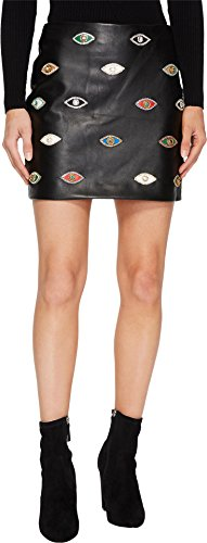 Nicole Miller Women's Evil Eye Skirt Black 6 by Nicole Miller