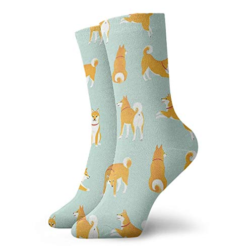Novelty Casual Crew Socks Japanese Akita Crew Dress Socks For Business And Casual