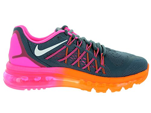 Nike Air Max 2015 de la mujer running Shoe Classic Charcoal/Pink Pow/Total Orange/White