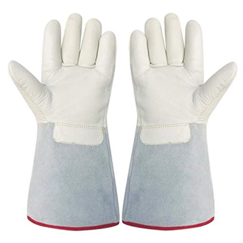 Liquid Nitrogen Cold Gloves Low Temperature Frostbite Resistant Gloves Thick Leather Gloves Dry Ice Cold Storage LNG Natural Gas Special LJJOZ (Size : 45cm) (Frostbite Ice)