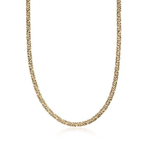 Ross-Simons 4mm 14kt Yellow Gold Byzantine Necklace 14kt Gold Byzantine Necklace