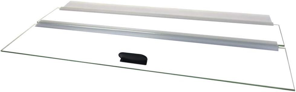 "H2Pro 20"" Glass Canopy 10 Gallon Aquarium Fish Tank (19.33 x 9.65 x 0.16in)"