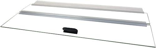 H2Pro 20-inch glass canopy, 19.33 x 9.65 x 0.16 in