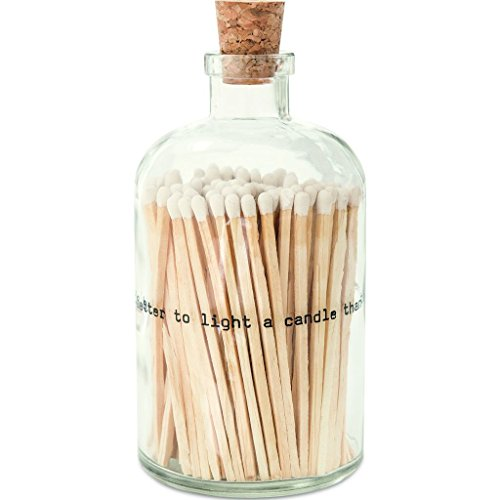 Skeem Design Large Apothecary Poetry Matches | White