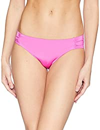 Trina Turk Women's Indo Solids Tab Side Hipster Bikini Bottom Shocking Pink 8