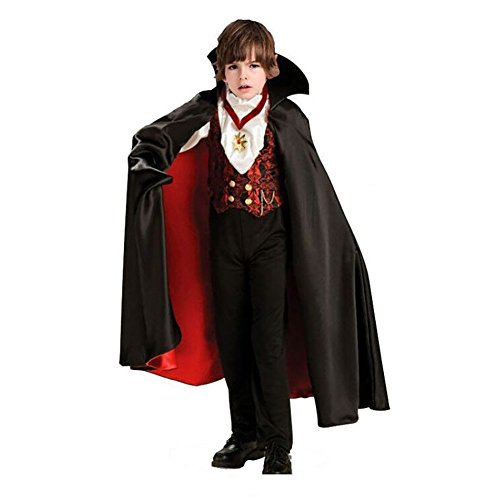 Cuteshower Vampire Kids Costume Outfit Boys Halloween Cosplay Medium
