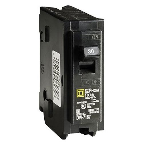 Square D by Schneider Electric HOM130CP Homeline 30 Amp Single-Pole Circuit Breaker