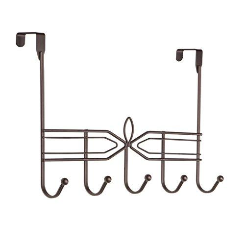Richards Homewares Bronze Aria 2 x 5 Over the Door Hook 5 Metal Rack ()