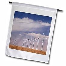 Danita Delimont - Windmills - Electric Windmill, power, Two Buttes, Colorado - NA02 RNU0090 - Rolf Nussbaumer - 18 x 27 inch Garden Flag (fl_84237_2)